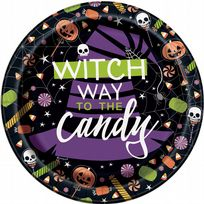 "Skeleton Trick Or Treat 7"" Dessert Plates (8)"